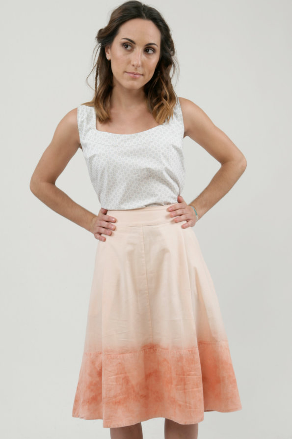 Pink ground skirt