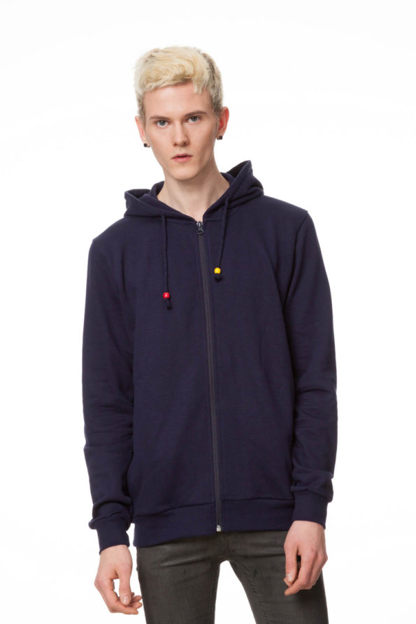 Circle Zip Hoodie Man midnight