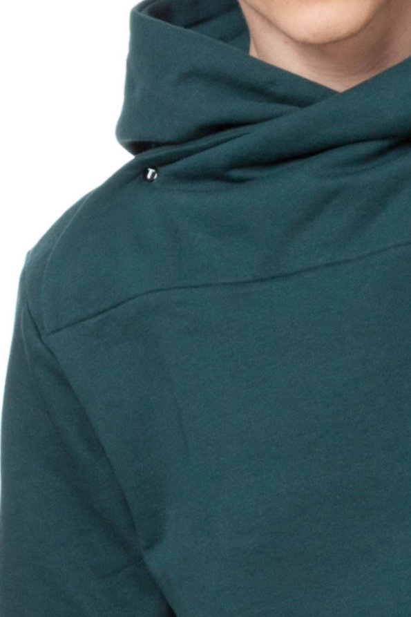 Hooded Sweater Man Mystic Teal