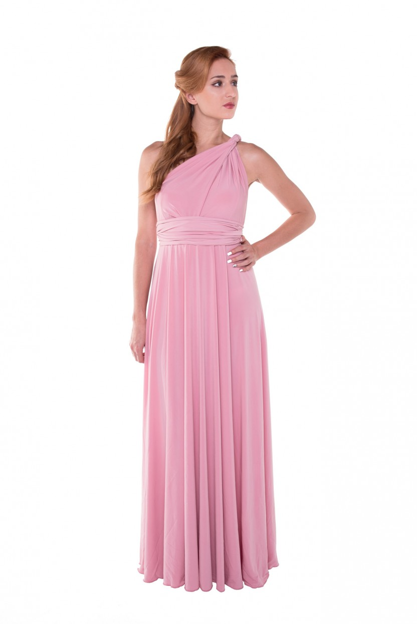 Infinity Long Dress Rosa Palo de CoShop - The Circular Project